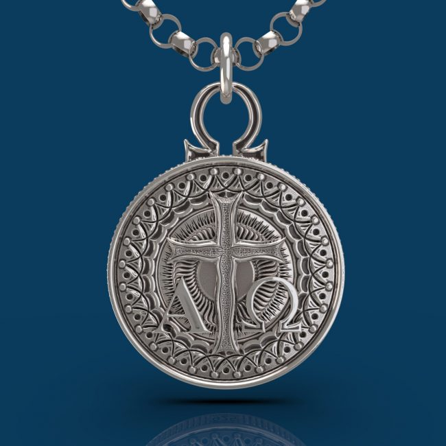 Alpha and Omega Pendant - Front