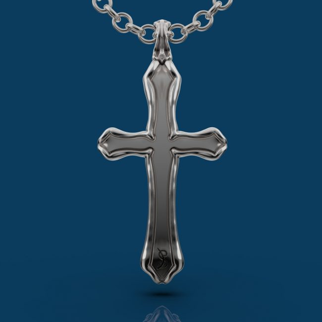 Cathedral Cross Pendant - Back