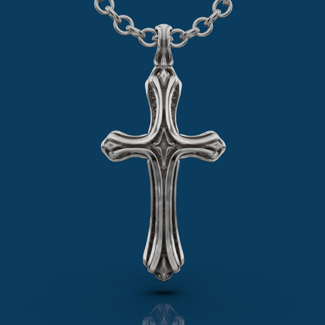 Cathedral Cross Pendant - Front