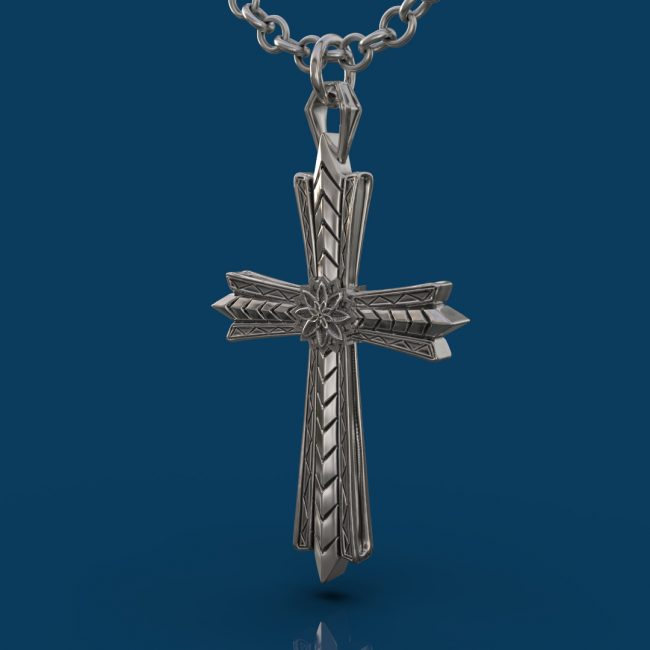 The Light Cross Necklace - Angle