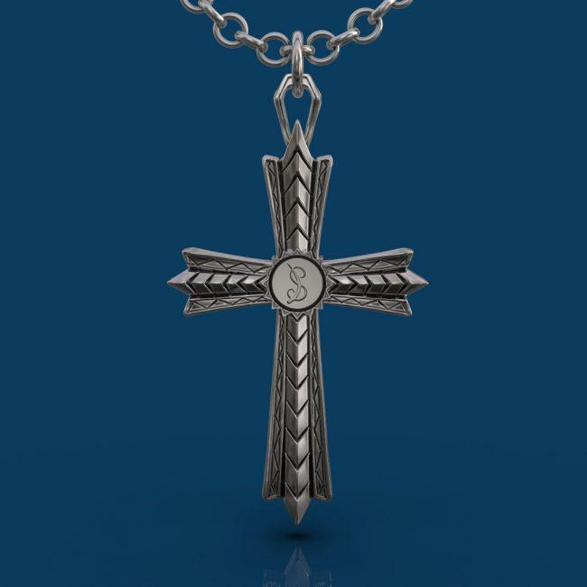 The Light Cross Necklace - Back