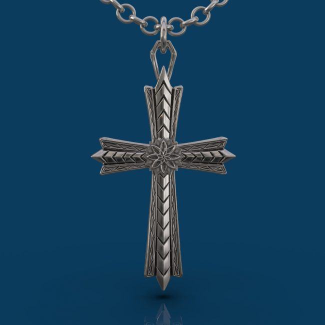 The Light Cross Necklace - Front
