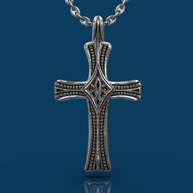 Ichthys Cross Necklace - Front