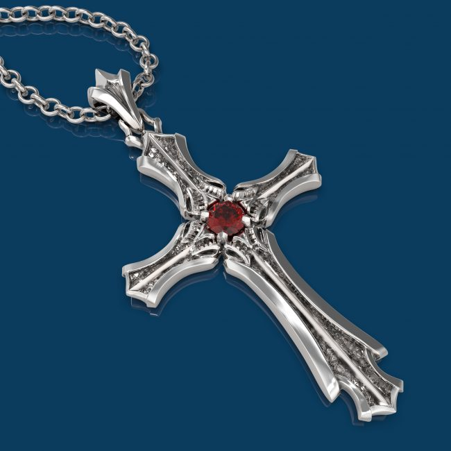 Presence Gothic Cross Pendant