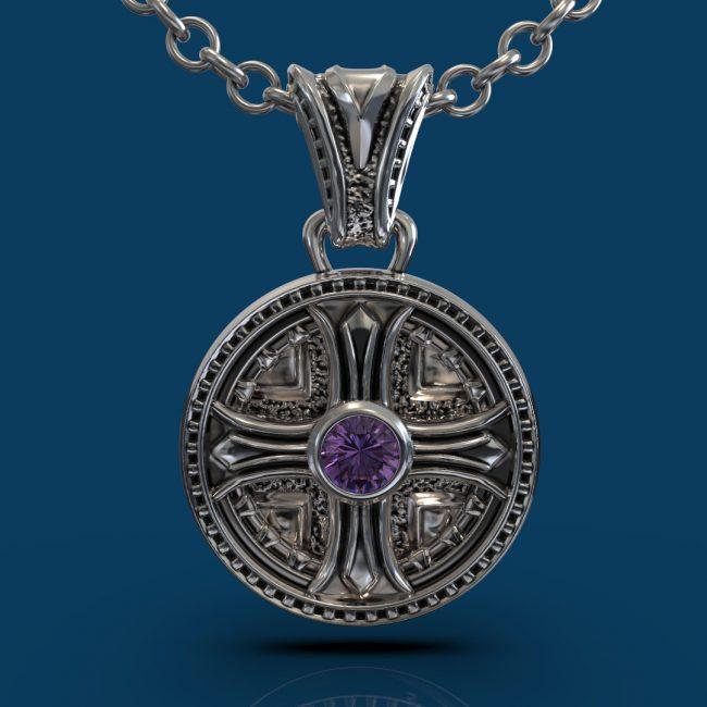 Byzantium Pendant - Amethyst - Front