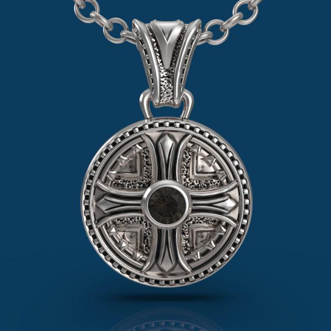 Byzantium Necklace - Smoky Quartz - Front