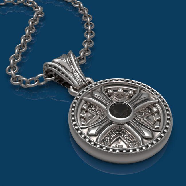 Byzantium Necklace - Smoky Quartz