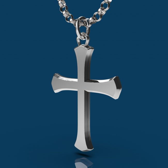 Solemn Cross Necklace - Angle