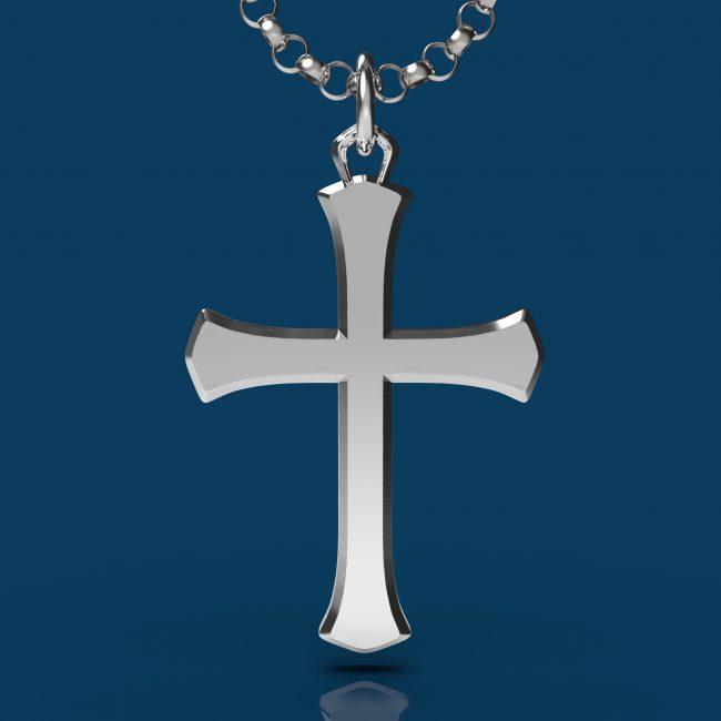 Solemn Cross Necklace - Front