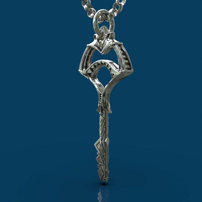 Emerald City Skeleton Key - Left Angle